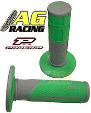 Pro Grip Progrip 801 Grips Grey Green Motocross Enduro Honda CR CRF XR XL CRM