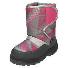 ragazze h4067 Rosa/GRIGIO SINTETICO Stivali da neve a strappo chiusura REFLEX