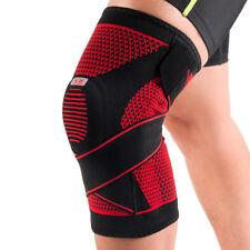 Kuangmi Knee Brace Spring Support Silicon-ring Adjustable Bandage Sports Exercis