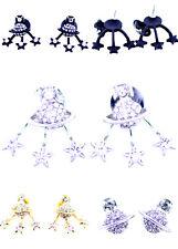 Crystal Pianeta Saturno e STAR (può essere separati) Orecchini a lobo, Scelte multiple