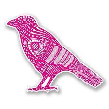 2 x rosa uccello RAVEN CROW ADESIVO VINILE PORTATILE VIAGGIO BAGAGLI AUTO # 6081