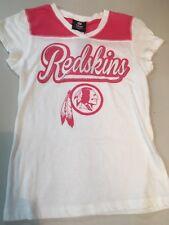 dab651919 WASHINGTON REDSKINS GIRLS NFL WHITE/PINK TEAM APPAREL TEE SHIRT FREE  SHIPPING