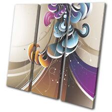 Swirls Vector Pattern Abstract TREBLE DOEK WALL ART foto afdrukken