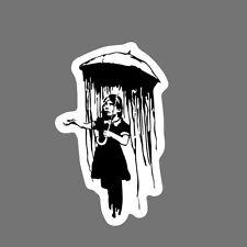 Banksy Sticker Decal vinyl graffiti street art Obey stencil car umbrella girl