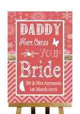 RED INVERNO NATALE Here Comes Your SPOSA Daddy PERSONALIZZATO WEDDING segno