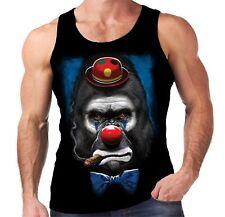 Velocitee Mens Vest Gorilla Clown Scary Evil Horror Joker Biker A20410