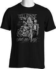 Biker T Shirts Bikini Babe Vintage Gasoline Pump Bobber Mens Small to 6XL & Tall