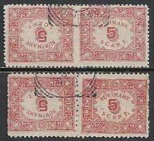 Surinam 1909 NVPH 58a-59a  CANC  VF