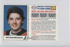 1983 ESSO Hockey Stars TV Cash Game #RIBR Richard Brodeur Vancouver Canucks Card