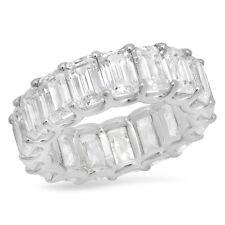 Make Your Own Emerald Cut diamond Eternity Band! Custom metal & diamond size