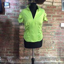 Unique Boutique Line Green Zipped women's shirt / top  - New