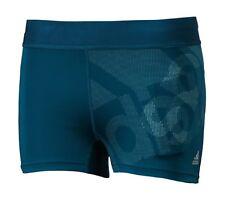 Adidas Women Tech-fit LOGO S/S Tight Pants Blue Training Yoga GYM Jersey BQ9476