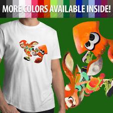 Splatoon Ink Orange Inkling Squid Girl Video Game Gamer Unisex Mens T-Shirt Tee