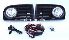 FOG LIGHTS LAMPS GRILLES SET FOR VW GOLF 5 MK5 2003-2009 & WIRING KIT A18 NEW