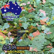 Aquamunch Pure Vege Spirulina Aquarium Fish Flake Food GRAIN FREE Flakes Feed