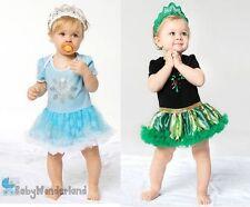 Girl Frozen Elsa Anna Party Birthday Costume Dress Tutu Skirt+Headband size 0-2Y