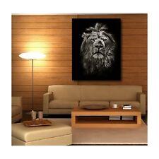 Tableaux toile déco rectangle verticale lion  120894148