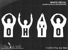 Ohio State OHIO Silhouette Letters Vinyl Window Decal Sticker OSU