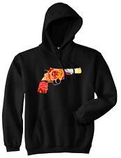 Kings Of NY Floral Revolver Gun Pistol Print Pullover Hooded Sweatshirt Hoody