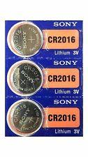 3 Button Batteries 3V SONY CR2016 LITHIUM (DL2016 BR2016 KCR2016 ECR2016 LM2016)
