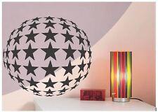 STAR BALL Sfera Specchiata Circle 80 S Lounge Cucina Vinile Wall Art Decalcomania Sticker