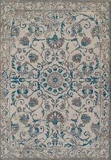 Traditional Rugs 8x10 Blue Gray Distressed Persian Rug 5x8 Vintage Carpet 2x4 Ru