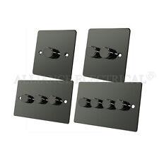 Flat Black Nickel Dimmer 400W - 10 Amp 1 Gang 2G 3G 4G 2 Way Dimmer Switch