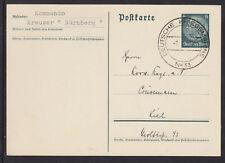 Germany, 1938 Navy Kreuzer Nurenberg Postal Card