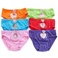 6*packs 100%cottons girls Comfort Soft Bikini Briefs Novelty Cartoon Size S/M/L