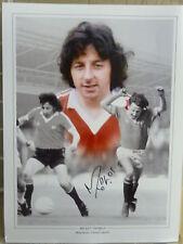Mickey Thomas Signed Manchester United Photo