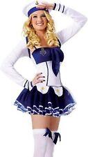 Damen-Kostüm Matrosin Matrosenkostüm Weiß-Blau Gr. XS-L