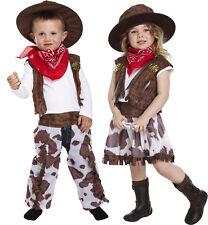 Faschingskostüm Cowboy oder Cowgirl Kostüm 2 - 4 Jahre Kleinkind Jungen Mädchen
