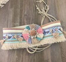 Colourful Boho Tribal Bohemian Gypsy Belly Belt Hippy Tie Turkish Shimmy Tassel