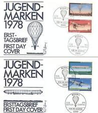 Germany 1978 FDC 964-67b Luftfahrt Flugzeuge Plane