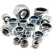 Métrique nylon insérer verrouillage noix, grossier fil Brillant Plaqué Zinc DIN985 Nyloc