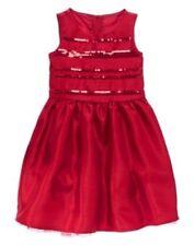 GYMBOREE VERY MERRY RED DRESS w. STRIPE GLITTER BODICE DRESSY DRESS 6 7 8 NWT