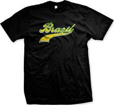 Brazil Script Cursive Fancy Font Republica Federativa Do Brasil Mens T-shirt