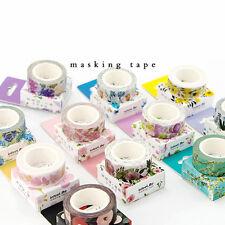 DIY Washi Masking Tape 7 Meters Paper Sticker Decorative Flower Craft Scrapbook