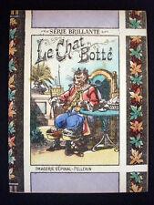 Vintage Child's Imagerie Pellerin Le Chat Botte Serie Brillante Book Inv1498