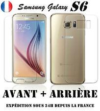 Vitre film protection d'écran en VERRE TREMPE Samsung Galaxy S6 Avant + Arriere