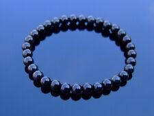 Black Obsidian Natural 6mm Gemstone Bracelet 6-9'' Elasticated Healing Stone