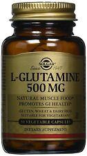 A Solgar 500 Mg L-Glutamine Vegetable Capsules Pack Of 50