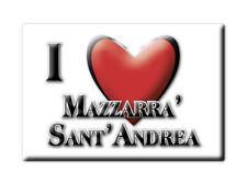 CALAMITA SICILIA FRIDGE MAGNETE SOUVENIR I LOVE MAZZARRA' SANT'ANDREA (ME)