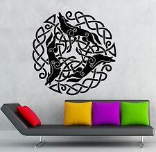 Wall Sticker Vinyl Decal Celtic Pattern Wolf Druid Irish Ireland (ig1870)