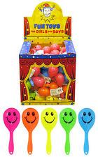Mini Smiley Maracas Children's Party Bag Fillers Rattle Shaking Kids Toys