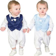 Baby Boys BattesimO COMPLETO/ABITO BATTESIMO 3pc vestito azzurro Papillon