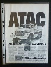 6/1982 PUB AM GENERAL CORPORATION M813 TRUCKS CAMIONS MILITAIRES MILITARY AD
