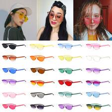 Women Men Fashion Clear Retro Sunglasses Outdoor Frameless Eyewear Glasses Gift