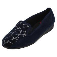 Pantuflas De Mujer Rachael r55096 burdeos y azul marino