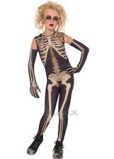 Kids Skeleton Skelee Girl Halloween Costume